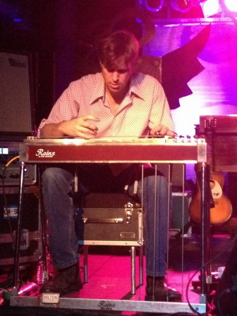 Neff on steel guitar