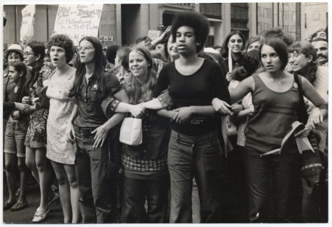 """""""8-26-1970 March,"""" photo credit: Diana Davies, accessed here"""