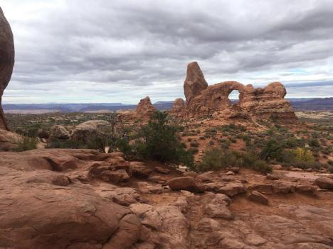 Turret Arch, looking from North Window: Arches National Park